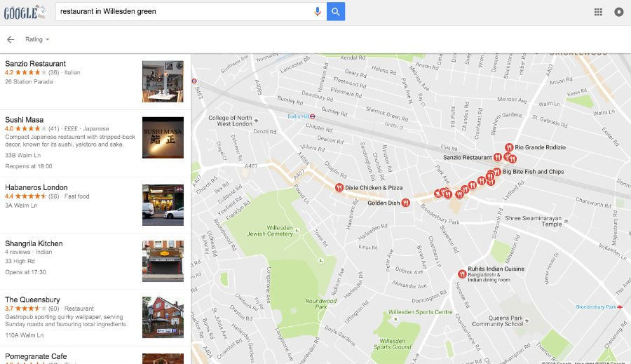 Restaurant Google Positioning