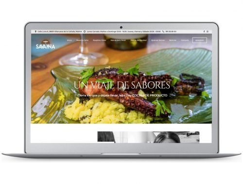 Savanna Restaurante Web Design