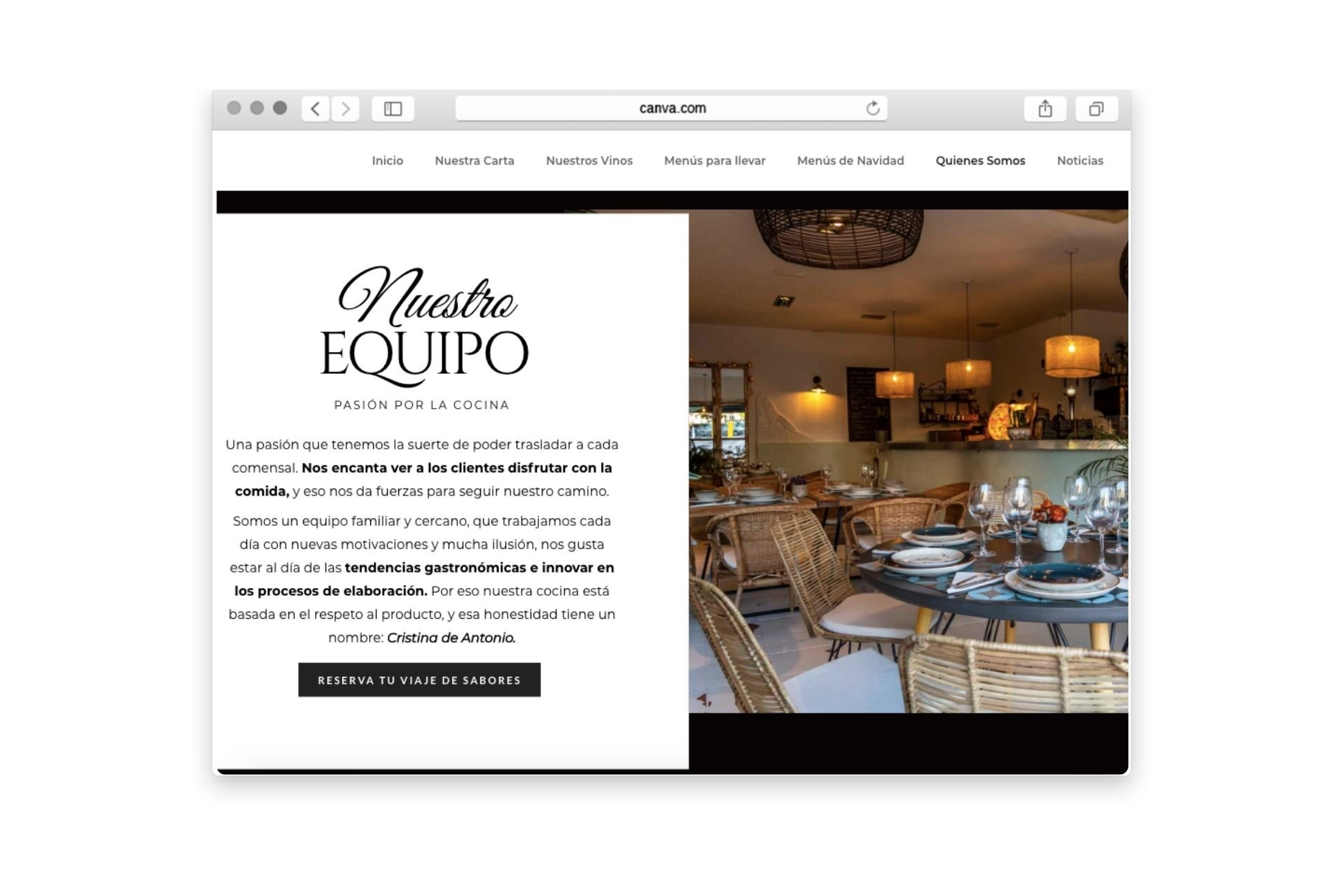 Savanna Restaurante Diseño Web Wordpress